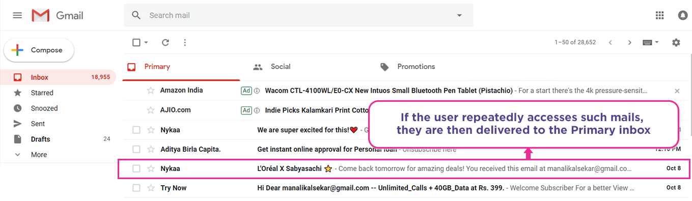 Tip Land Your Promotional Email In The Primary Tab In Gmail